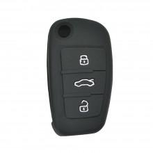 Силиконовый чехол для выкидного смарт ключа Audi 3кнопки,А6L лезвие НU66