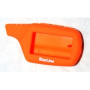 Чехол для брелока StarLine B/A61/A91 Силикон Оранжевый